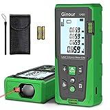 Entfernungsmesser, Ginour Digitales Laser Entfernungsmesse 50 Meter, 99-Datensatz-Lasermessgerät, mit LCD Hintergrundbeleuchtung M/In/Ft für Pythagoras, Abstand, Fläche und Volumenberechnung, IP54