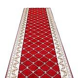 Teppich Läufer Flur Korridor Schlafzimmer Long Runner Teppiche für Flur Teppiche Korridor Teppich Gang Full Shop Home rutschfeste benutzerdefinierte Lange Treppe Roter Tepp