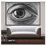 QWGYKR Poster Und Drucke Escher Surreale Geometrische Kunstwerke Moderne Abstrakte Poster Wandkunst Bild Leinwand Malerei Für Zimmer Wohnkultur-16X24 Zoll X1 Kein Rahmen