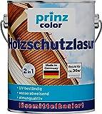 prinzcolor Premium Holzschutzlasur Holzlasur Holzschutz Holzgrundierung Teak 2,5l