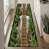 GJIF Läufer Teppich Flur Modern 3D, Korridor Teppich Für Küche Wohnzimmer Schlafzimmer, Rutschfester, Breite 60cm / 80cm/ 90cm/ 100cm/ 120cm(Size:60x500cm)