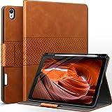AUAUA Hülle für iPad Air 4. Generation 10.9 Zoll 2020 mit Apple Stifthalter Auto Schlaf/Aufwach Funktion PU Leder Cover (Braun)