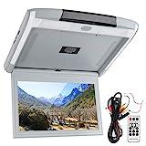 Auto-Deckenmonitor, 11,6-Zoll-Auto-Deckenmonitor HD 1080P TV MP5-Bildschirm mit USB TF HDMI FM unterstützt Fernbedienung