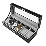 PIXNOR Uhrenbox für 6 Uhren Eleganter Speicher auch für Schmuck oder Armbandkollektion usw
