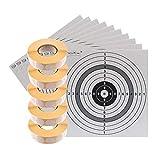 shoot-club Schusspflaster weiß 19 mm selbstklebend - 10000 Stück auf 5 Rollen - inklusive 10 ShoXx. Zielscheiben 14 x 14 cm
