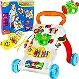 MalPlay Laufwagen 5 in 1 mit Spielzeugen | Gehfrei Spiel- und Lauflernwagen Lauflernhilfe Gehhilfe Musik | Spielecenter für Babys ab 6 Monaten