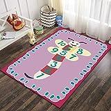 SunYe Anti-Rutsch-Dicken Samt Teppich Nach Hause Kinder Krabbeln Teppich Cartoon Korridor Couchtisch Eingangsmatte Kann Gewaschen W