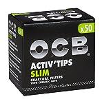 OCB 150 x Activ Tips Slim Aktivkohlefilter 7mm 3x50er Filtertips