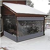 GOODSH Outdoor Vorhang Vinyl Plane Pavillon Balkonvorhänge PVC Transparent Wasserdicht Mit Öse Anpassbar,2.3x3.3m/7.5x10.8ft