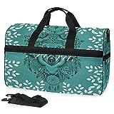 Blätter Wölfe Sporttasche Badetasche mit Schuhfach Reisetaschen Handtasche für Reisen Frauen Mädchen Männer