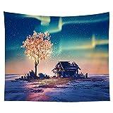 Bunter Wandbehang Wandteppich Indischer Mandala Himmel Sonnenuntergang Hippie Wandteppich Boho dekorative Wandverkleidung Wanddecke A3 130x150