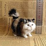 BESDAY 2021 Neue Plüschtiere Realistische Plüschtier kreatives Geschenk Stubentiger Katze Tierdeko Dekoration für Den Garten Katzenkissen, Katzenplüschtier