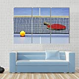 104Tdfc Bilder 3 Teilig Leinwand Wanddeko Geschenk 50X70Cm Rahmen Leinwanddrucke Tischtennisschläger Ball Tisch mit Netz Moderne Wandbilder XXL Wohnzimmer Wohnkultur Geschenk
