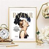 AJBB Wandbilder Leinwandbilder Malerei, Poster Sarah Jessica Parker Zeitungscover Poster Zitate Dekor No Frame 40X60Cm