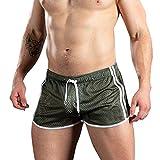 Xmiral Badehose Herren Transparent Mesh Schnelltrocknend Mini Boxershorts Atmungsaktiv Beach Schwimmshorts mit Kordel(Grün,XXL)