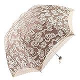 Honeystore Regenschirm, Automatik Spitze Outdoor Taschenschirm Bohème Stil Stabiler Schirm für Damen Gelb