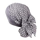 UK_Stone Damen Blumen Polka Punkt Kirsche Baumwolle Ethnisch Turban Mütze Chemo Kopftücher Haarverlust Kopfbedeckung