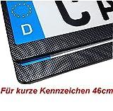 2 Kurze Kennzeichenhalter 46 cm Carbon Nummernschildhalter 460x110mm