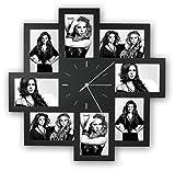 Zep Foto-Uhr Trieste schwarz für 8 Fotos 10x15cm, aus Kunststoff, zum Häng