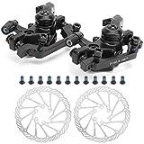 FOLOSAFENAR Fahrradscheibenbremssatz, Fahrradbremsen aus Aluminiumgussdruckguss, Hochfeste Montageschrauben der Güteklasse 10,9, Teile für die Reparatur von Fahrrädern, für Mountainbike