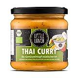 Little Lunch Bio Eintopf Thai Curry | 350ml | 100% Bio-Qualität | Vegan | Laktosefrei | Glutenfrei | Ohne zugesetzten Zucker | Keine künstlichen Zusätze | Keine Geschmacksverstärk