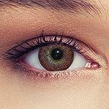 Designlenses Farbige Kontaktlinsen Naturbraun zur Suche ohne Dioptrien + Gratis Gehäuse Modell Natural Hazel