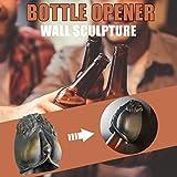 MEIYOUMK Flaschenöffner, Flaschenöffner Wandmontage, Wandflaschenöffner Wand Bieröffner, Multitool Multifunktions-Werkzeug mit Paketöffner, Flaschenöffner, Kapselheber, Flaschenöffner