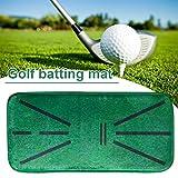 60 x 30 cm Golf-Trainingsmatte, Golf-Trainingsmatte, tragbare strapazierfähige Golfschlagmatte, Golf-Start-Trainingspad für Zuhause und Bü