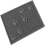 ShenMiDeTieChui Napfunterlage, Futtermatte Für Hunde Und Katzen,wasserdicht, rutschfest (Color : Gray)