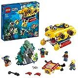 LEGO 60264 City Meeresforschungs-U-Boot, Tiefsee-Unterwasser Set, Tauch Abenteuerspielzeug für Kinder