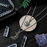 Herren HalsketteMehrschichtige Halskette Sun Moon Anhänger Crescent Boho Style Child Lunar Macabre Schmuck Pagan Amulet Witch Style