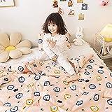 AZSOGOOD Kinderbaumwollsommer-Steppdecke, Klimatisierungsdecke 100% Baumwolle Bettwäsche, dünne Quilt Single und Double Children's Summer Steppdecke-N_110.150cm * 1.