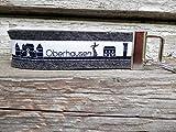 Schlüsselanhänger Schlüsselband anthrazit Oberhausen Skyline schwarz weiß!