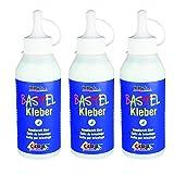 Kreul 49361 - Bastelkleber, auf Wasserbasis, lösungsmittelfrei, für viele verschiedene Materialien, 250 ml, transparent (250 ml, 3)