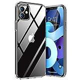 TORRAS Diamond Series Kompatibel mit iPhone 11 Hülle Vergilbungsfrei Durchsichtig Handyhülle Hard PC Back und Soft Silikon Bumper Case - Transp