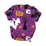 Damen Bluse Top Halloween-Druck Übergröße O-Ausschnitt T-Shirts Kurzarm Grafik T-Shirt Tops Kurzarm Shirts Damen Karierte Bluse Damen