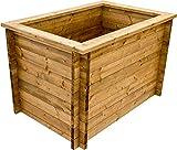 NATIV Hochbeet rechteckig, Stecksystem, Holz, mit Noppenfolie und Nagerschutzgitter, 145x80 cm, braun, FSC-Zertifiziert,