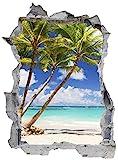 Strand Palme Sand Meer Wandtattoo Wandsticker Wandaufkleber E0442 Größe 46 cm x 62 cm