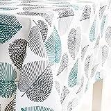 X-Labor Abwaschbar Tischdecke Eckig Wasserdicht Oxford Stoff Tischtuch Tischwäsche Pflegeleicht Garten Zimmer Tischdekoration Mint 140 * 260cm