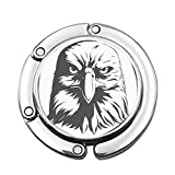 Porträt-Silhouette der Adler-Graustufen-Zusammensetzung mit wütendem Tierausdruck Benutzerdefinierte Verschiedene Design-Muster Schulterhandtasche Faltbög