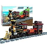 FADF Zug Bausteine, 473 Stück Stadtbahnzug Bausatz, Dampflokomotive Zug Modellbausatz für Kinder, Erwachsene über 8 J