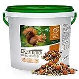 wildtier herz Artgerechtes Eichhörnchenfutter 2kg für Eichhörnchen und Streifenhörnchen I Ganzjahres Futter für Eichhörnchen I Streifenhörnchen F
