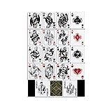 Game of Thrones Card Deck Leinwand-Kunst-Poster und Wandkunstdruck, modernes Familienschlafzimmer, 60 x 90 cm