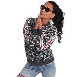 Yakuza Damen Logo Love Classic Pullover Sweatshirt, Schwarz Meliert, XXL