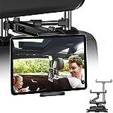 JPARR Tablet Halterung KFZ, Universelle Ausziehbare Auto Kopfstützen Halterung, 360° Drehung Tablet Kopfstützenhalter für 4~11' Handy, Tablet, Switch und Andere Geräte