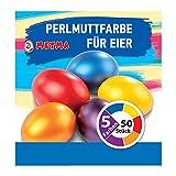 Metma B038 - Eierfarben, 5 Stück, Gelb, Orange, Rot, Blau, Lila, mit Handschuh, Färbetabletten, Ostereier, Ostern
