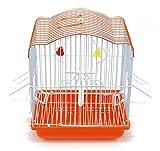BPS Vogelkäfig aus Metall, mit Futterspender, Tränke, Seil und Sitzstange, zufällige Farbe, 22,5 x 17 x 28 cm, BPS-1209