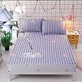 HPPSLT Matratzen-Bett-Schoner mit Spannumrandung   Auch für Boxspring-Betten und Wasser-Betten geeigne Wasserdichtes Bettlaken mit Baumwolldruck - 10_120 cm × 200 cm