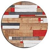 Tischplatte Werzalit Dekor Kbana Rouge 70 cm rund wetterfest Ersatztischplatte Bistrotisch Stehtisch Tisch Gastronomie