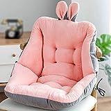 Sitzkissen, weiches Plüsch, Sofakissen, Unterlehner, Sesselauflagen, Autositzkissen, dicke Baumwollmatte mit Riemen, Pink, 45 cm